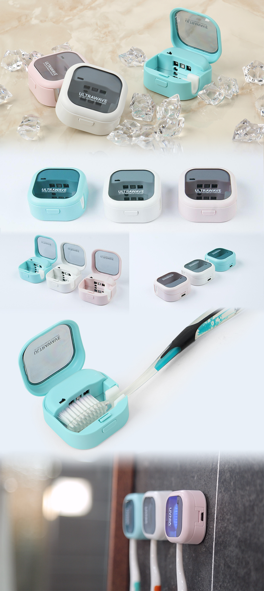 Rechargeable toothbrush sanitization cap